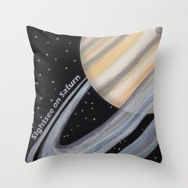Sightsee On Saturn Throw Pillow