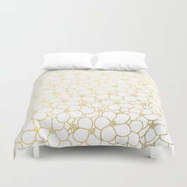 Forget Me Knot White Gold Duvet Cover