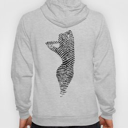 Fingerprint Silhouette Portrait No.2 Hoody