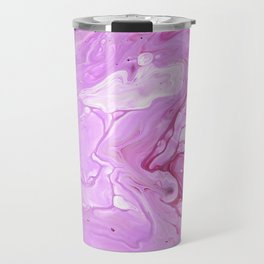 Pink Rose Abstract Pretty Fluid Art Travel Mug
