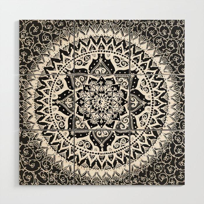 Yin Yang Mandala Pattern Wood Wall Art By Laurelmae
