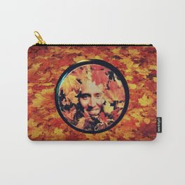 "Nicolas cage eyeshadow: ""Nic Cage Raking Leaves On a Brisk October Afternoon"" Carry-All Pouch"