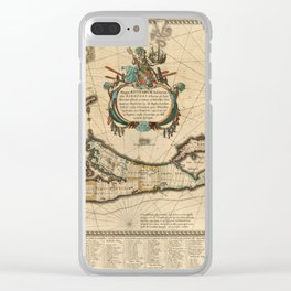 Map of Bermuda 1662 Clear iPhone Case