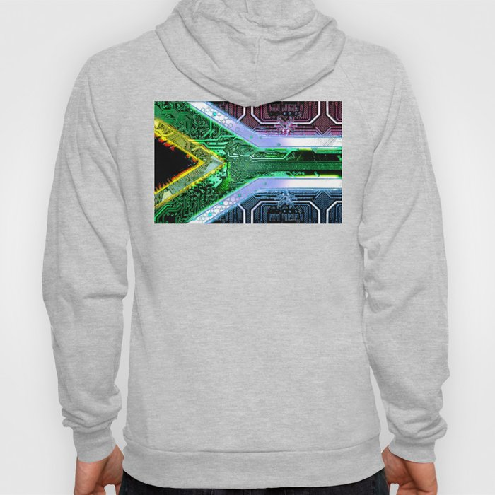 circuit board South Africa (Flag) Hoody