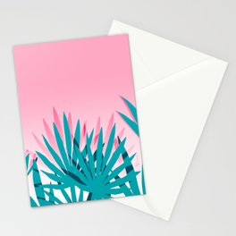 Dissed - memphis retro vintage neon pink pastel ombre trendy girl gift for hipster urban beach goer Stationery Cards