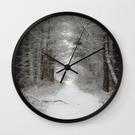 Winter woodlands Wall Clock