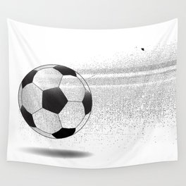 Moving Football Wall Tapestry