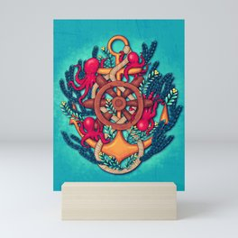 Anchor and Octopuses Mini Art Print