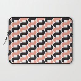 Geometric Pattern #184 (pink black knots) Laptop Sleeve