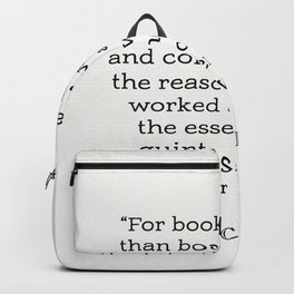 Marcus Tullius Cicero about books Backpack
