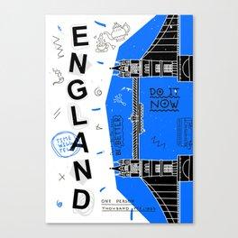 England typography art Canvas Print