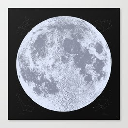 Blue Full Moon Print, by Christy Nyboer Canvas Print
