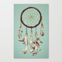 dreamcatcher Canvas Prints featuring dreamcatcher by tipsyeyes