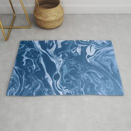 marble blue paper texture Rug