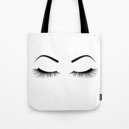 Closed Eyelashes (Both Eyes) Tote Bag