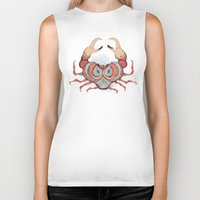 cancer Biker Tanks featuring Cancer by Vibeke Koehler