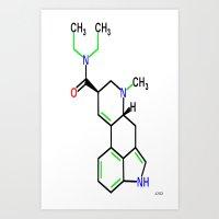 lsd Art Prints featuring LSD by TLineInc