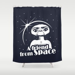 ET the Extraterrestial: A friend from Space Shower Curtain