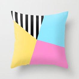 Summer Stripe Sectors Throw Pillow