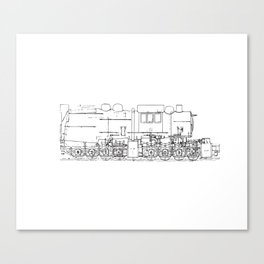 Sketchy train art Canvas Print