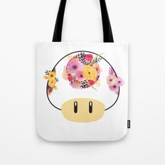 Toad in Bloom - White Background Tote Bag