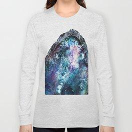 Blue Mystic Geode Long Sleeve T-shirt