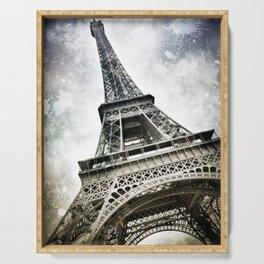 Modern Art PARIS Eiffel Tower Splashes Serving Tray