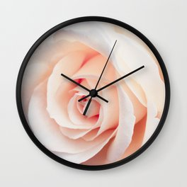 Flowers Photography | Rose | Spring | Easter | Blush Pink Wall Clock