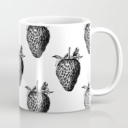 Strawberry Black Coffee Mug