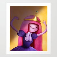 princess bubblegum Art Prints featuring Princess Bubblegum by Niniel