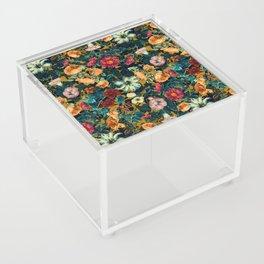 Floral Pattern Winter Garden Acrylic Box