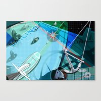 sailing Canvas Prints featuring Sailing by Robin Curtiss