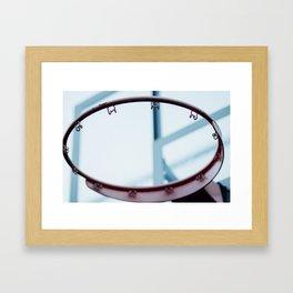 Backyard Hoop Dreams Framed Art Print