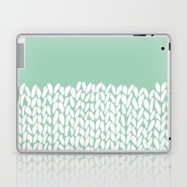 Half Knit Mint Laptop & iPad Skin