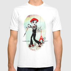 Paris Cruisin' MEDIUM Mens Fitted Tee White