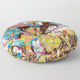 Colorful days Floor Pillow