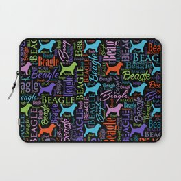 Beagle  Word Art pattern Laptop Sleeve