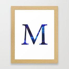"""Initial letter """"M"""" Framed Art Print"""