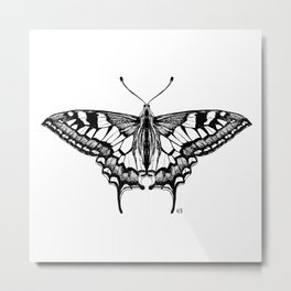 Not so real Butterfly V black-and-white Metal Print