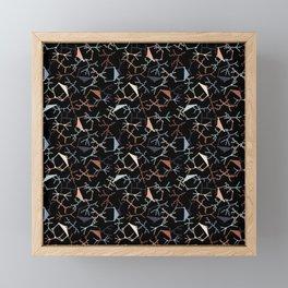 Chaotic Particle Physics on Black Framed Mini Art Print