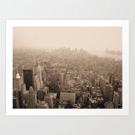Sky Smog  Art Print
