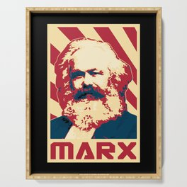 Karl Marx Retro Propaganda Serving Tray