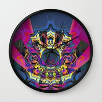 booty Wall Clocks featuring Draggin Booty by Jim Pavelle