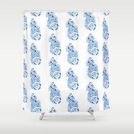 BLOCK PRINT BAZAAR I Shower Curtain