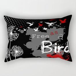 Trash Polka Dandelions Blow Into Birds Rectangular Pillow