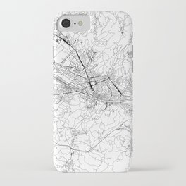 Florence White Map iPhone Case