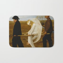 1903 Classical Masterpiece 'The Wounded Angel' by Hugo Simberg Bath Mat