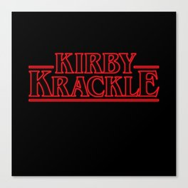 Kirby Krackle - Upside Down Logo Canvas Print