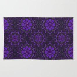 Violet Flower, rustic floral pattern, ultra-violet Rug