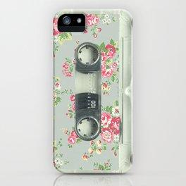 K7 cassette flower iPhone Case